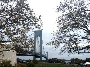 The first bridge of the NYC Marathon... the Verrazano