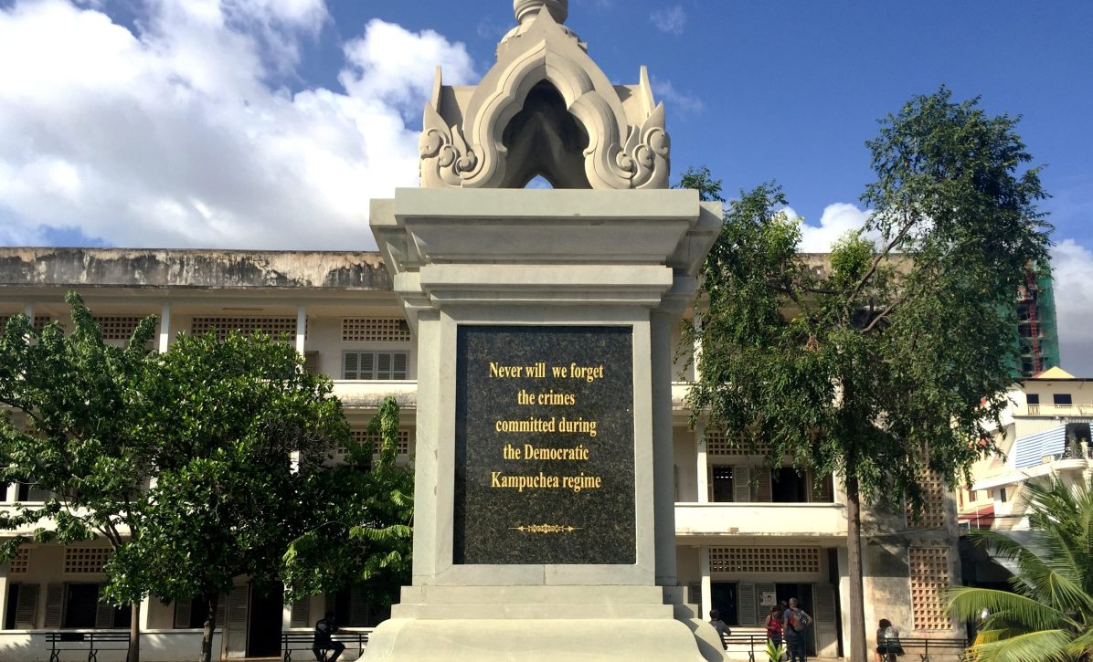 At the Tuol Seng Genocide Museum, Phnom Penh