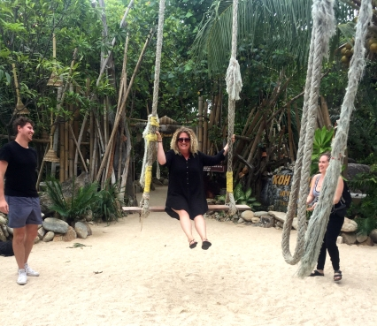 Swinging Around at Secret Beach