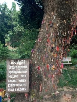 The Killing Tree at the Killing Fields of Choeung Ek