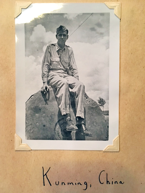 My grandfather, Kunming, China WWII