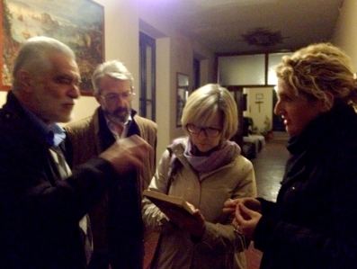 Meeting with the local historian, who just so happens to live in the Torriani House
